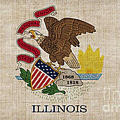 Illinois State Flag Art Print by Pixel Chimp