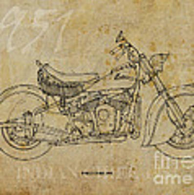 Indian Chief 1951 Art Print by Drawspots Illustrations