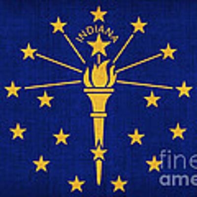 Indiana State Flag Art Print by Pixel Chimp