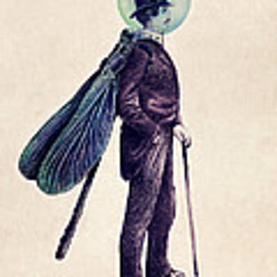 Inspector Dragonfly Art Print by Eric Fan