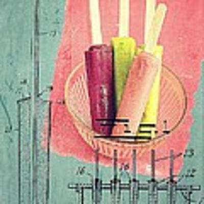 Invention Of The Ice Pop Art Print