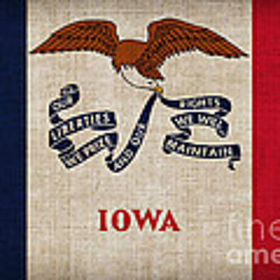 Iowa State Flag Art Print by Pixel Chimp