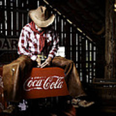 Just Another Coca-cola Cowboy 3 Art Print by James Sage