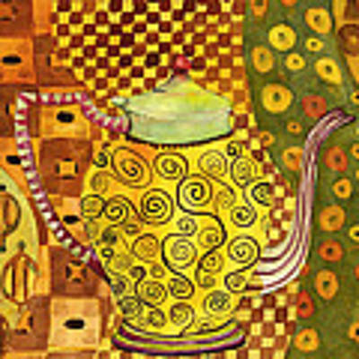 Klimt Style Teapot Blenda Studio Original by Blenda Studio
