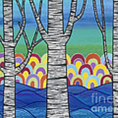 Lake View Art Print by Carla Bank