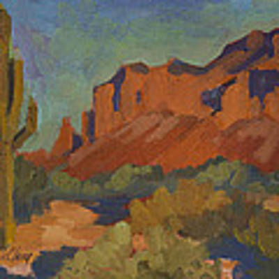 Late Afternoon Light At Superstition Mountain Original by Diane McClary