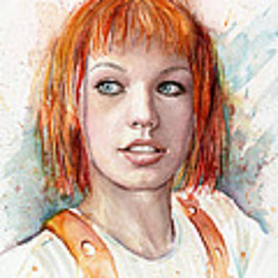Leeloo Portrait Multipass The Fifth Element Art Print by Olga Shvartsur