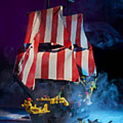 Lego Pirate Ship Art Print