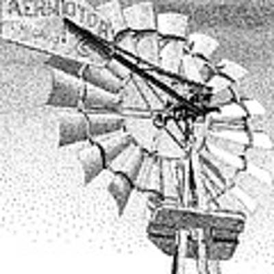 Lehman Windmill Art Print by Rob Christensen