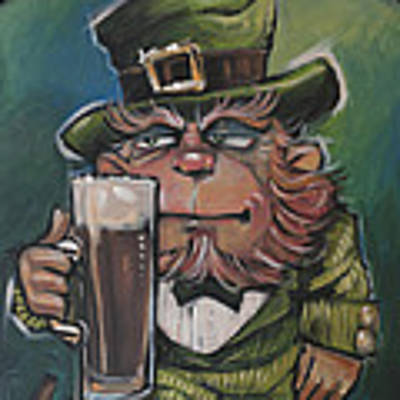 Leprechaun About To Enjoy An Irish Stout Original by Tim Nyberg