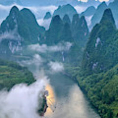 Li River Art Print by Hua Zhu