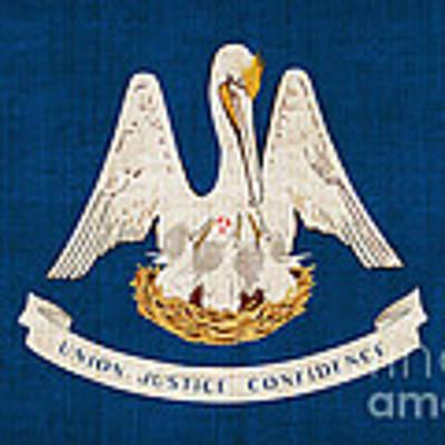 Louisiana State Flag Art Print