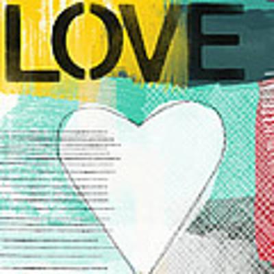 Love Graffiti Style- Print Or Greeting Card Art Print by Linda Woods