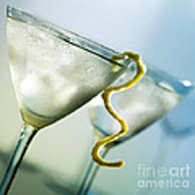 Martini With Lemon Peel Art Print