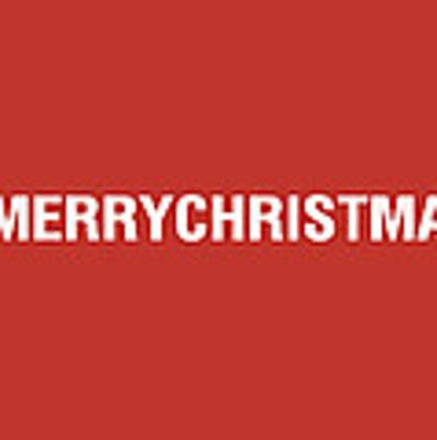 Merry Christmas Hashtag Art Print