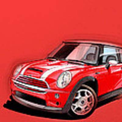 Mini Cooper S Red Art Print