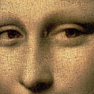 Mona Lisa    Detail Art Print