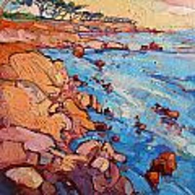 Monterey Rock Art Print by Erin Hanson
