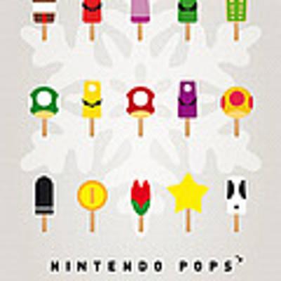 My Mario Ice Pop - Univers Art Print