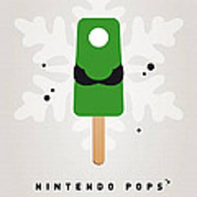 My Nintendo Ice Pop - Luigi Art Print