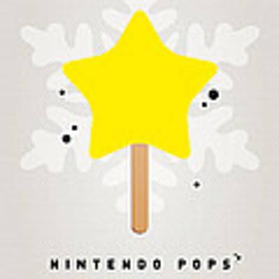 My Nintendo Ice Pop - Super Star Art Print