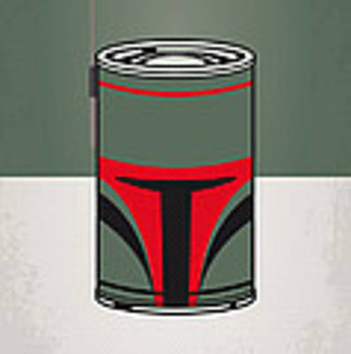 My Star Warhols Boba Fett Minimal Can Poster Art Print by Chungkong Art