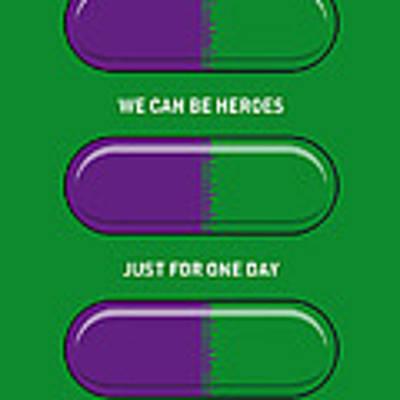 My Superhero Pills - The Hulk Art Print by Chungkong Art