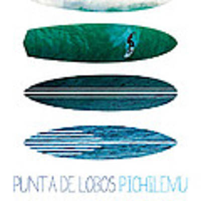 My Surfspots Poster-3-punta De Lobos-chile Art Print by Chungkong Art