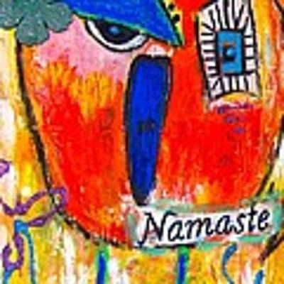 Namaste Birdie Acknowledges The Soul In You  Art Print by Corina  Stupu Thomas
