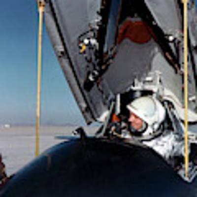Neil Armstrong As X-15 Test Pilot Art Print by Nasa