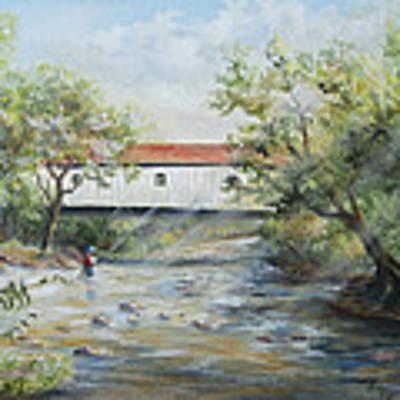 New Jersey's Last Covered Bridge Art Print by Katalin Luczay