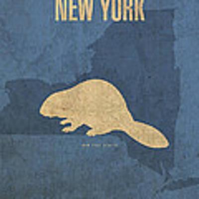 New York State Facts Minimalist Movie Poster Art  Art Print