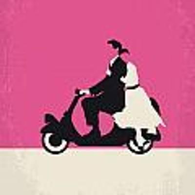 No205 My Roman Holiday Minimal Movie Poster Art Print by Chungkong Art