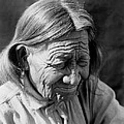 Old Arapaho Man Circa 1910 Art Print