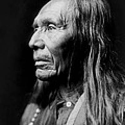 Old Nez Perce Man Circa 1910 Art Print by Aged Pixel