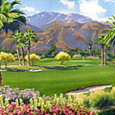 Palm Springs Golf Course With Mt San Jacinto Original by Mary Helmreich