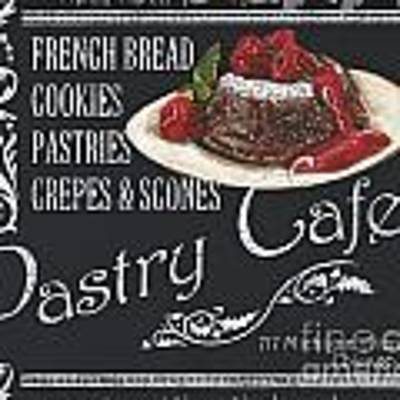 Pastry Cafe Art Print