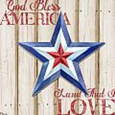 Patriotic Spirit Barn Star IIi Art Print