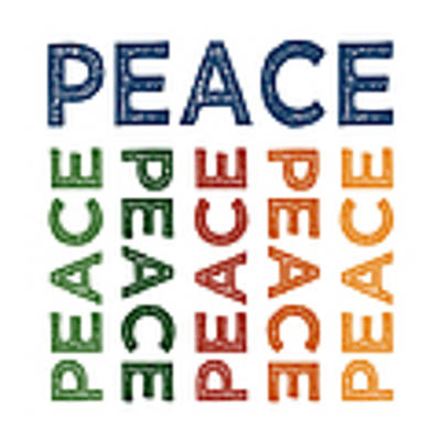 Peace Cute Colorful Art Print