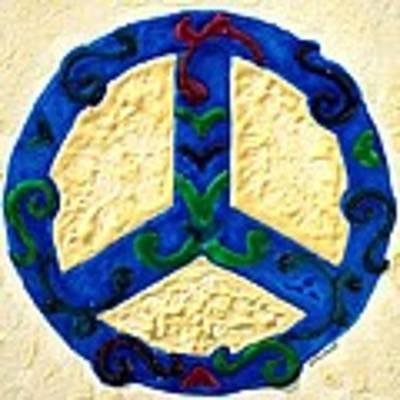 Peace Sign Art Print by Cynthia Amaral