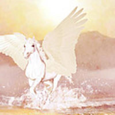 Pegasus   Art Print by Valerie Anne Kelly