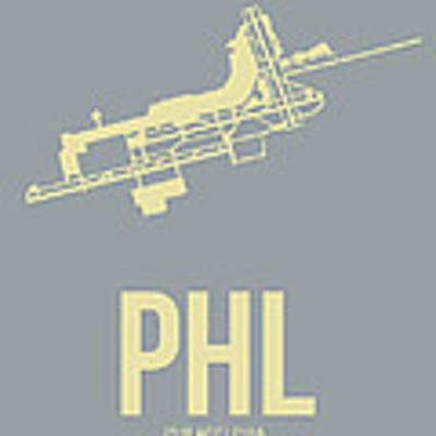 Phl Philadelphia Airport Poster 1 Art Print by Naxart Studio