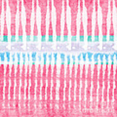Pink And Blue Tie Dye Art Print