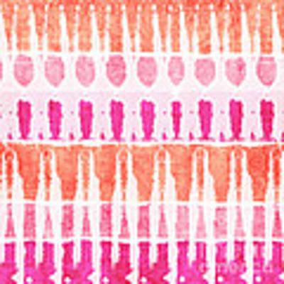 Pink And Orange Tie Dye Art Print