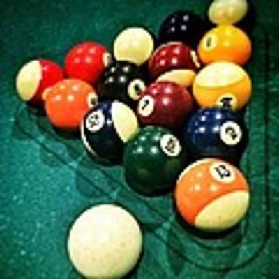 Pool Balls Art Print by Carlos Caetano