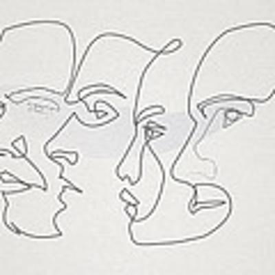 Profiles Art Print