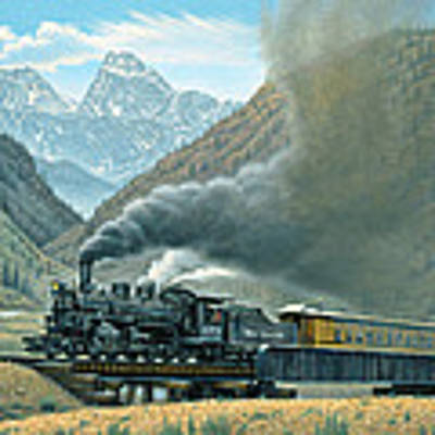 Pulling For Silverton Art Print by Paul Krapf