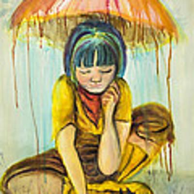 Rain Day  Art Print by Angelique Bowman
