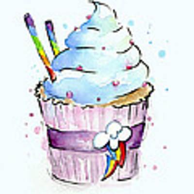 Rainbow-dash-themed Cupcake Art Print