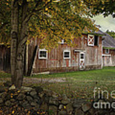 Connecticut Red Barn Art Print by Expressive Landscapes Fine Art Photography by Thom